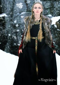 "valkyriethais: "" None. Beaver Fur, None. Viking Queen Dress - Viking Queen - Sol The Viking Queen 