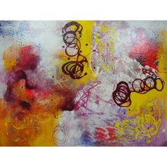 Mirtha Moreno 'Eye Floaters' Oil on Canvas