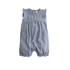 J.Crew Baby ruffle one-piece  in chambray