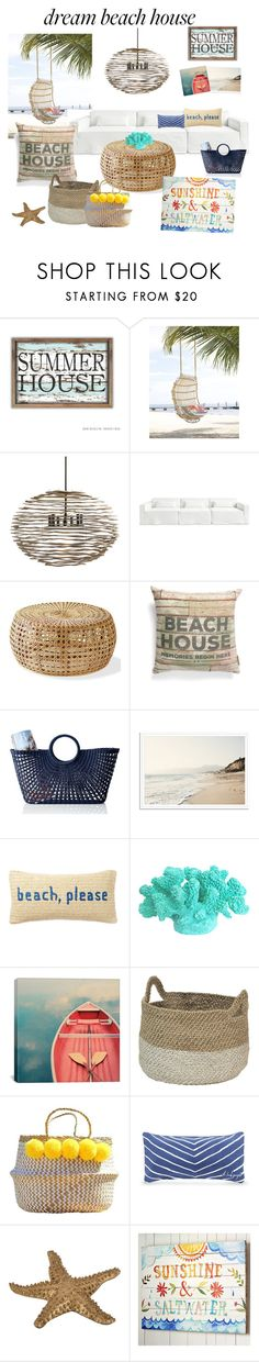 """""""Beach house"""" by jessbotelho ❤ liked on Polyvore featuring interior, interiors, interior design, home, home decor, interior decorating, Arteriors, Gus* Modern, Primitives By Kathy and Mark & Graham"""