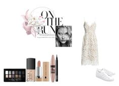 fashion styling project by ioannaelli on Polyvore featuring Sans Souci, adidas Originals, Maybelline and NARS Cosmetics