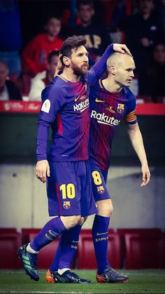 Messi e Iniesta Fc Barcelona, Lionel Messi Barcelona, Barcelona Football, Spain Football, Football Love, Best Football Players, Good Soccer Players, Argentina National Team, Messi Photos