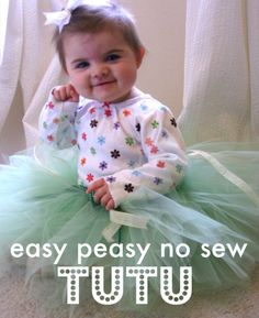 Easy NO SEW tutu for babies, toddlers, and kids.