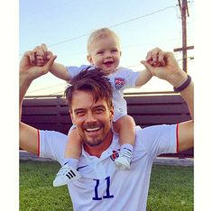 So cute! Josh Duhamel posted an adorable picture with his son Axl Jack. The sweet snapshot shows the duo rooting for Team USA in matching jerseys!