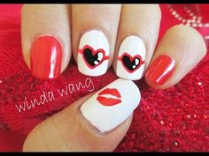 Taylor Swift 22 Inspired Nail Art Tutorial ( Red Tour Concert Nails ) - YouTube