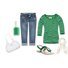 green, created by basketcutie on Polyvore