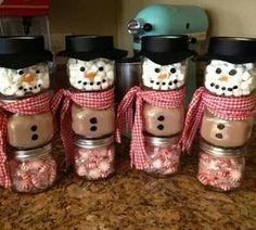 Snowmen gift in a jar