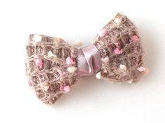 unique brooch, ribbon,knit brooch,Brooch,bow from violetcloset by DaWanda.com