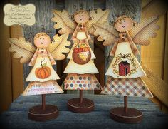 E-Pattern  Prim Fall Faeries by PaintingwithDeb on Etsy
