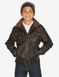 Boys Brown Coats K4aupe