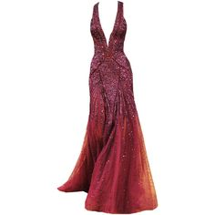 edited by elle-cxix(zuhair murad) found on Polyvore featuring dresses, gowns, long dresses, vestidos, zuhair murad evening gowns, zuhair murad, zuhair murad evening dresses, red evening gowns and long red dress