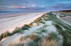 The beautiful Holkham Bay on the North Norfolk Coast of England