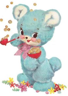 XL VinTaGe BeaRs BLoWinG BubBLeS ShaBby DeCALs ~FuRNiTuRe SiZe~ | Crafts, Home Arts & Crafts, Decorative & Tole Painting | eBay!