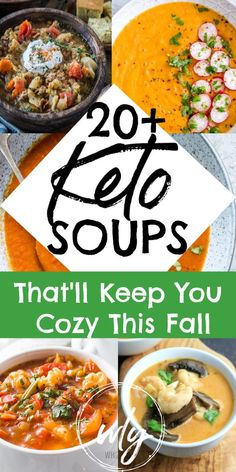 Over 20 low-carb keto soup recipes that make a simple keto dinner possible on busy days of the week. L … # simple # enable # Over 20 low-carb keto soup recipes that make a simple keto dinner possible on busy days of the week. Ketogenic Recipes, Low Carb Recipes, Diet Recipes, Healthy Recipes, Ketogenic Diet, Ketogenic Breakfast, Protein Recipes, Diet Meals, Diet Foods