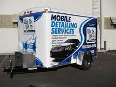 Pro Bull Ride Cory Rasch's Professional Mobile Auto Detailing Trailer