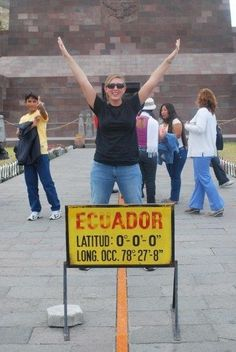 Stand on the equator in Ecuador
