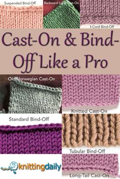 How to Cast-On Knitting & Bind-Off Tips in Free Guide