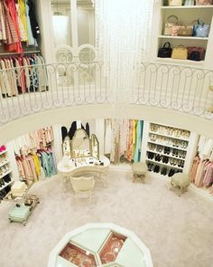 The dream closet! Two stories and multiple accessory closets?