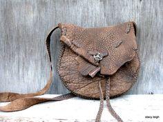 Rustic Brown Cross Body Medieval Leather Bag