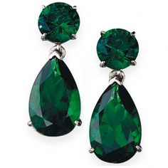 Boldly Beautiful Tru Emerald Earrings Platinum Clad