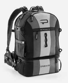 Weight:5.2 lbs Dimensions:18 x 12 x 7 in Shuttle Pod Capacity: 5 lbs  Picture this—you're on the trail and you need something from your pack: sunglasses, a different camera lens, something to snack on—you name it. Normally, you'd have to stop what you're doing to remove your pack and get it. But with the Mt. Pickett 18, you can keep your straps on, and the things you need swing to the front in one swift, secure motion using ARC swing technology.