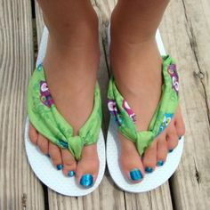 These DIY Fabric Flip Flops couldn't be any simpler to make. No sewing required.