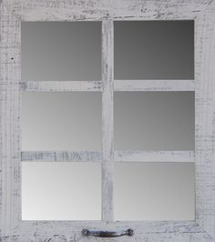 Barn Wood 6-Pane Window Mirror Weathered Rustic Style Home Decor Mirror #Custom #RusticCountry