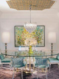 Modern Elegant Dining Room Interior Design Project In Miami Hollywood Regency By Dkor Interiors