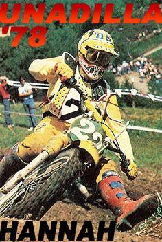 BOB HANNAH / Green Guide Yamaha Motocross, Motocross Love, Motocross Racer, Vintage Motocross, Bmx, Enduro Vintage, Vintage Bikes, Moto Cross Yamaha, Mx Racing