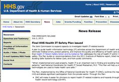 "Secure IT - Final HHS Health IT Safety Plan issued - The Joint Commission to expand capacity to investigate Health IT-related events. ""When implemented and used properly, health IT is an important tool in finding and avoiding medical errors and protecting patients,"" said National Coordinator for Health IT Farzad Mostashari, M.D. ""This Plan will help us make sure that these new technologies are used to make health care safer."""