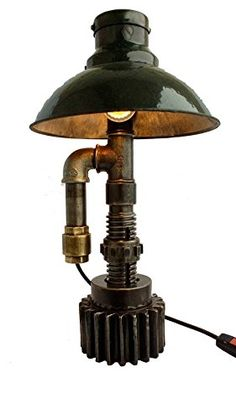 Amazon.com: Lighting table lamps Industrial lamp Steampunk lamps Contemporary table lamps for bedroom Retro style lighting Industrial desk light Urban: Handmade