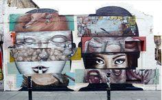 Lilwenn & Bom. K Mural in London, UK