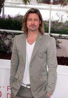 A Long-Haired Brad Pitt Attends 'Killing Them Softly' Photocall Sans Angelina Jolie