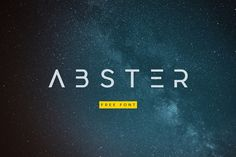 Abster Free Typeface Geometric fonts are normally elegant and modern, and this free Abster typeface is an example. Its a simplified abstract styled typeface ba Typography Logo, Typography Design, Logos, Lettering, Branding Design, Futuristic Fonts, Identity, Geometric Font, Free Typeface
