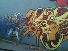 Somewhere in Tucson - Adventure Time graffiti