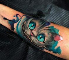 Cheshire Cat tattoo by Pablo Frias Tattoo Cat tattoo – Fashion Tattoos Cheshire Cat Tattoo, Chesire Cat, Cheshire Cat Art, Cartoon Tattoos, Disney Tattoos, Pretty Tattoos, Beautiful Tattoos, Body Art Tattoos, Sleeve Tattoos