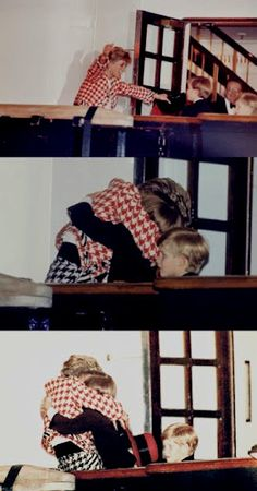 This has to be one of my Favs of Diana...Coming home from a trip abroad and seeing her boys....She was such a good mother