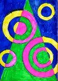 Artsonia Art Exhibit :: christmas tree - vanocni stromecek