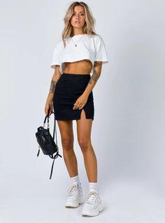 Croc Skorts Layered Frill Hem Mini Skirts Shorts Textured Multi UK Womens Ladies