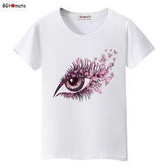 0cbc3aed5b2 Purple flower big eye women s T-Shirt Plus Size Price   15.00  amp  FREE