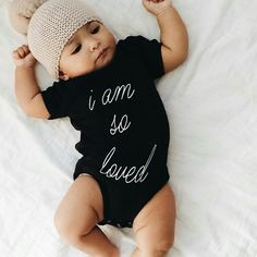 Sweet baby. Trendy onesie for a boy or girl.