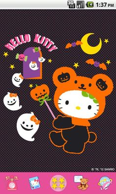 O Kitty Thanksgiving Pictures Google Search Halloween Wallpaper Holiday Wallpapero Kitty Halloween