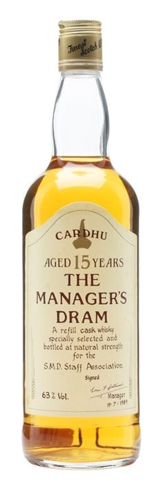 CARDHU 15 YEAR OLD Manager's Dram, Speyside