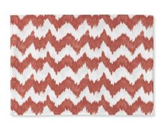 """If this Bold Ikat Print can be produced in Napkins & Place Mats, Set of 4; table cloths of various sizes... WHY CAN I NOT FIND VINYL WALL PAPER FOR THE TINY EXCUSE I NOW HAVE FOR A KITCHEN??? I SO DEARLY NEED A FLAME STITCH DESIGN OR THIS """"IKA"""" DESIGN TO MELD WITH MY FIRST PEOPLE, NATIVE AMERICAN THEME HERE IN MY FAMILY ROOM/KITCHEN AREA.....Calgon, plz help me!!!!!"""