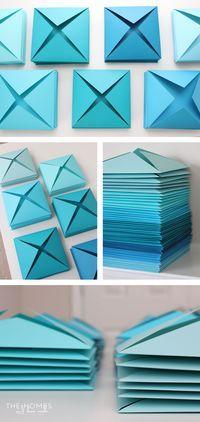 Renter-Friendly 3D Paper Wall Art