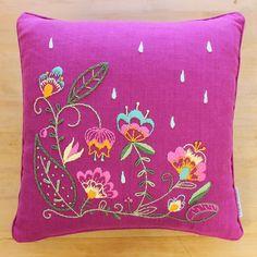 Embroidery Pillow Kit - Oscar's Bouquet