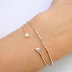 Items similar to gold round diamond open cuff bracelet, white diamond cuff bracelet, rose gold, white gold option on Etsy Diamond Bracelets, Gemstone Bracelets, Ankle Bracelets, Sterling Silver Bracelets, Diamond Jewelry, Jewelry Bracelets, Gold Cuff Bracelets, Ladies Bracelet, Silver Rings