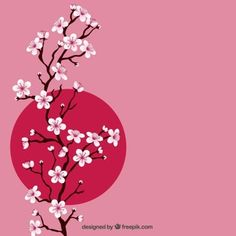 Branch with cherry blossoms Free Vector Cute Wallpapers, Wallpaper Backgrounds, Iphone Wallpaper, Cherry Blossom Art, Geisha Art, Art Asiatique, Blossom Tattoo, Art Japonais, Kokeshi Dolls