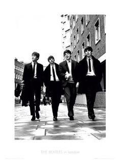 The Beatles IN LONDON (c.1965) Premium Gallery Poster Print
