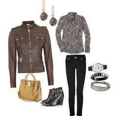 """40 Something Leather"" by mooreglamorous on Polyvore"